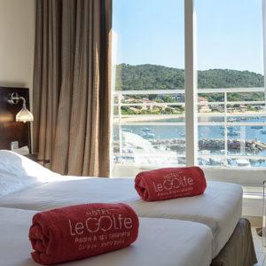 Master Suite 2 chambres vue mer Porto Pollo Corse du Sud