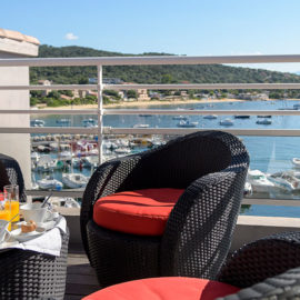 Terrasse Master Suite vue mer en Ajaccio Corse du Sud