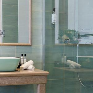 Salle de bain Master Suite vue mer en Ajaccio Corse du Sud
